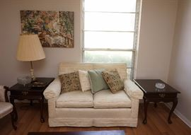 Cute loveseat and matching end tables