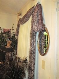 Every window has lovely window treatments which are available