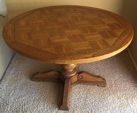 Vintage Oak Adjustable Height Table
