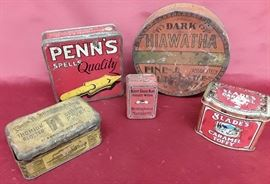 Lot of Five Advertising Cans