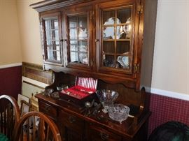 Pine Hutch (Part of Dining Room Set)