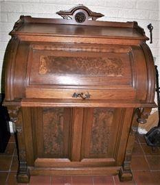 :  Victorian Walnut Cylinder Desk