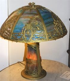 Panel Glass Table Lamps