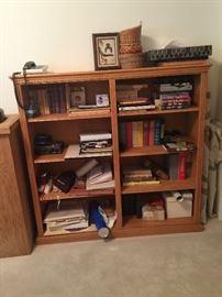 Oak bookcase Double