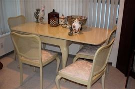 Table & 4 Chairs with Decorative
