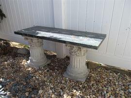 Granite top garden table
