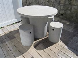 Napa Home and Garden concrete table and stools