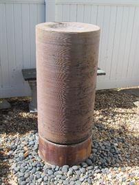 Fiberglass cylinder garden fountain