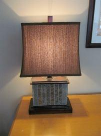 Decorative slate lamp