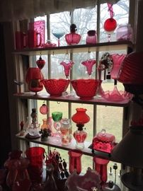 More pink and cranberry glass