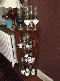Many mini oil lamps