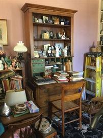 Plantation desk - painted, desk accessories