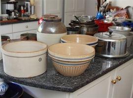 Yellowware and crocks