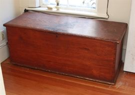 Lots of primitives, like this antique trunk