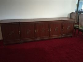 Teak Credenza with built in speakers comes apart in 4 sections