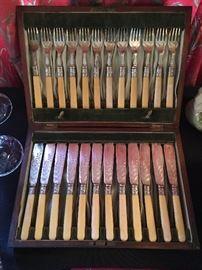 Antique Victorian Cutlery Set