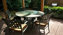 Beautiful six seating round table and chairs