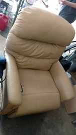white leather massage reclining chair