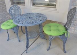 Outdoor Patio Table and 2 Chairs - SOLD