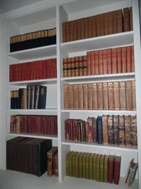 Many large sets of vintage books