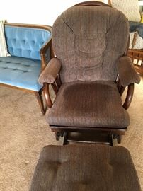 glider rocker with stool