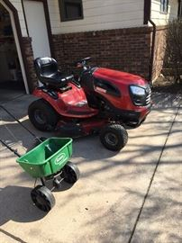 2012 Craftsman lawnmower (used only a couple of years), Scotts spreader
