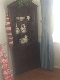 Two Corner Cabinets