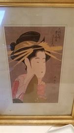 Fantastic Asian Woodblock Print