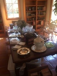 Lenox china and other fine china and class items.