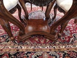 Bottom view of dining table