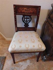 Dutch marquetry chair. 19th Century