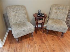 Matching Slipper Chairs beautifully upholstered