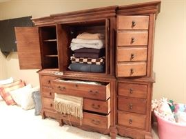 Linen / TV Cabinet that matches the Exquisite Master Bedroom Suite