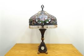 New Stained Lead Glass Tiffany Style 2 Light Lamp
