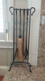 Wrought Iron Fireplace Tool Set