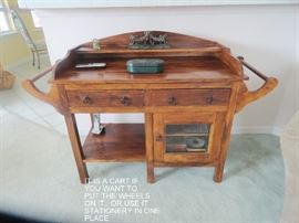 IT IS  ALSO A WASHSTAND.. CAN BE USED FOR MANY THINGS