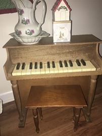 Child's piano with stool