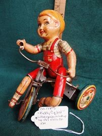 Kiddy Cyclist ca. 1930s by Unique Art Mfg. Co