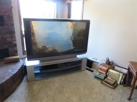 Large Screen TV with Base