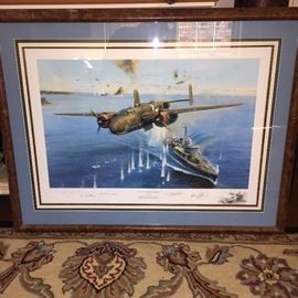 Aviation Autographed Art by Robert Taylor
