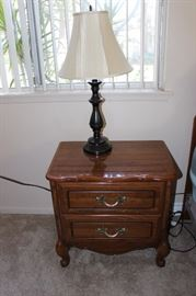 One of two nightstands.
