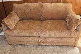 Corduroy sleeper sofa/loveseat.