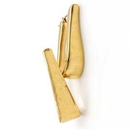 Milor 14K Yellow Gold Hoop Earrings: A pair of 14K yellow gold hoop earrings by Milor, Italy.