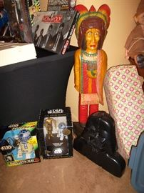 Star Wars, carved wood Indian