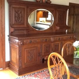Old English bar back with exceptional detail and condition