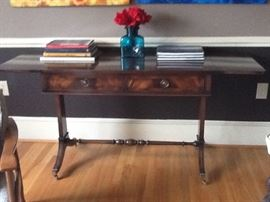 Sofa table with drop leaves