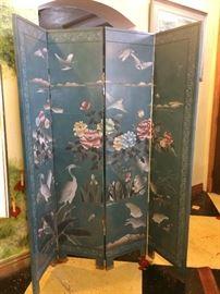 Vintage hand carved room screen/divider