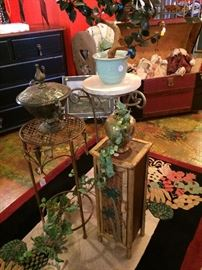 Assorted plant stands