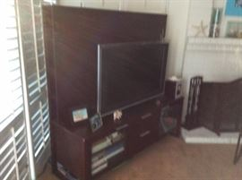 TV STAND AND TV Crate and Barrel