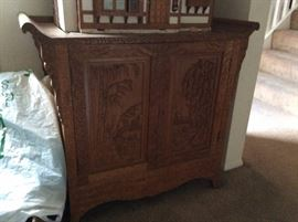 Chinese Antique alter table - carved wood.